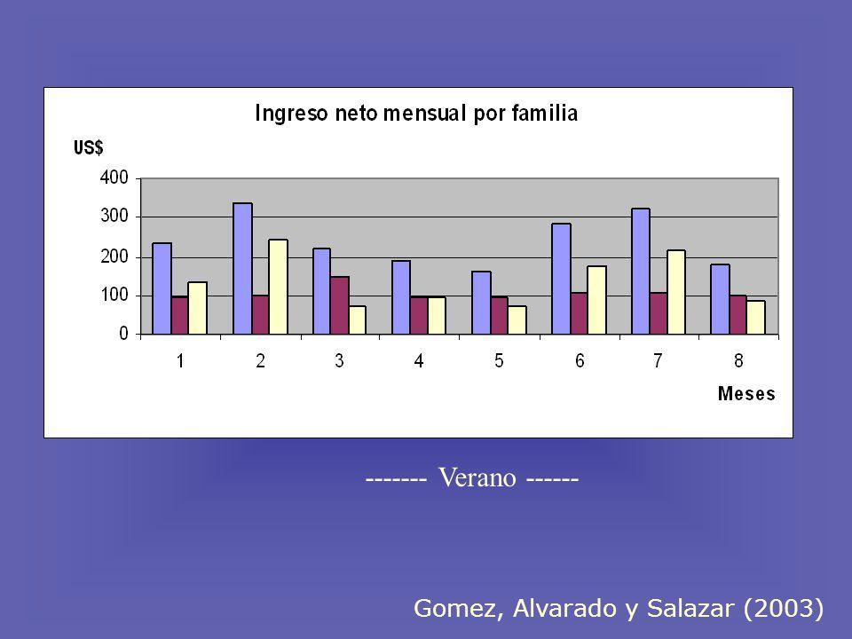 Gomez, Alvarado y Salazar (2003) ------- Verano ------