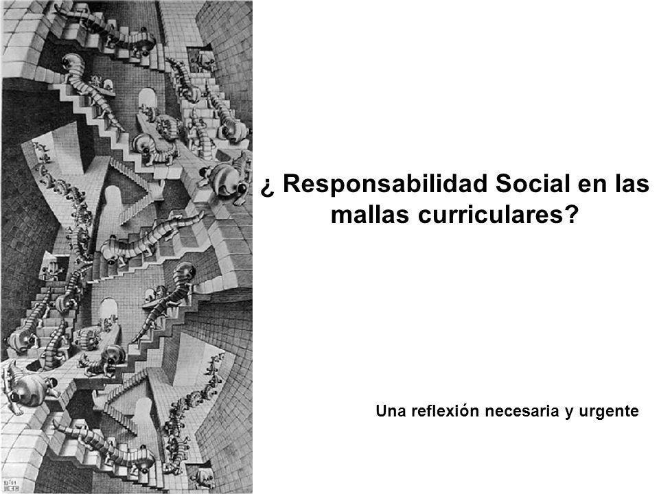 ¿ Responsabilidad Social en las mallas curriculares? Una reflexión necesaria y urgente