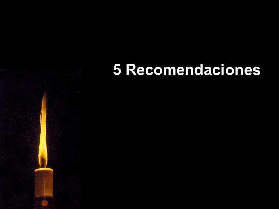 5 Recomendaciones