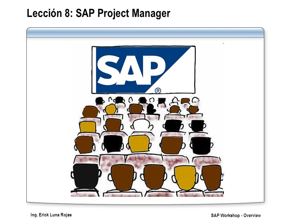 Ing. Erick Luna Rojas SAP Workshop - Overview Lección 8: SAP Project Manager