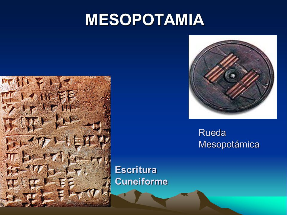 Escritura Cuneiforme MESOPOTAMIA Rueda Mesopotámica