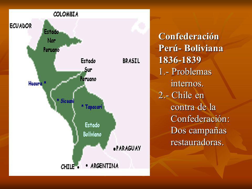 Confederación Perú- Boliviana 1836-1839 1.- Problemas internos.
