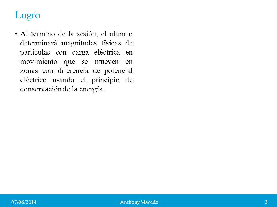 07/06/20144Anthony Macedo Cargas eléctricas Las cargas eléctricas son de dos tipos: positivas y negativas.