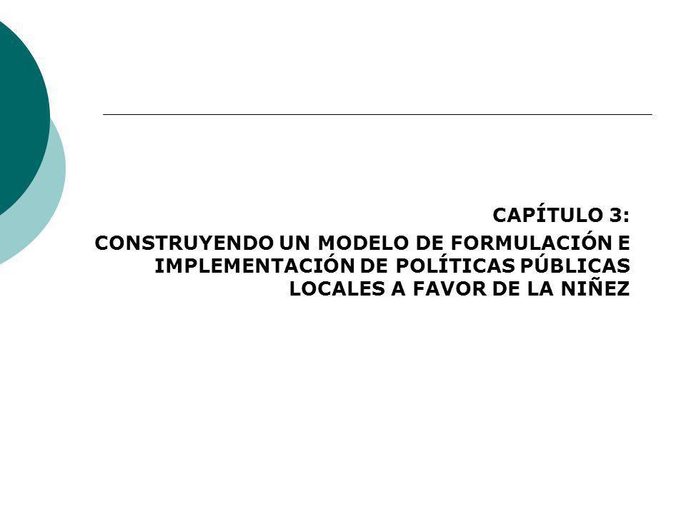 CAPÍTULO 3: CONSTRUYENDO UN MODELO DE FORMULACIÓN E IMPLEMENTACIÓN DE POLÍTICAS PÚBLICAS LOCALES A FAVOR DE LA NIÑEZ
