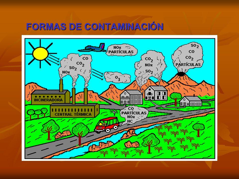 FORMAS DE CONTAMINACIÓN