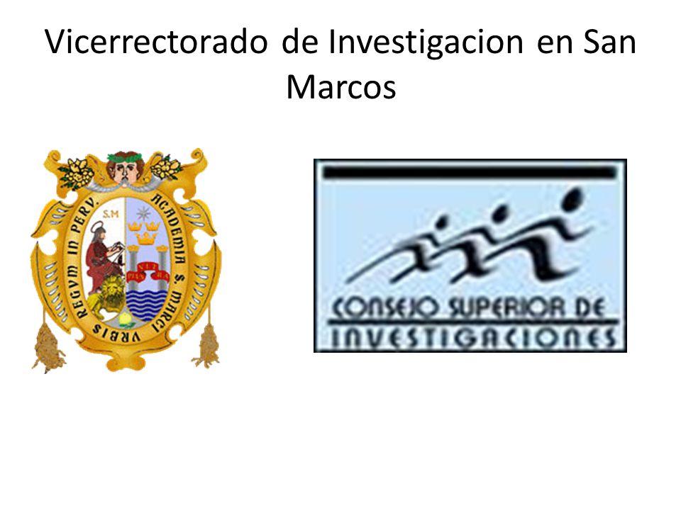 Vicerrectorado de Investigacion en San Marcos