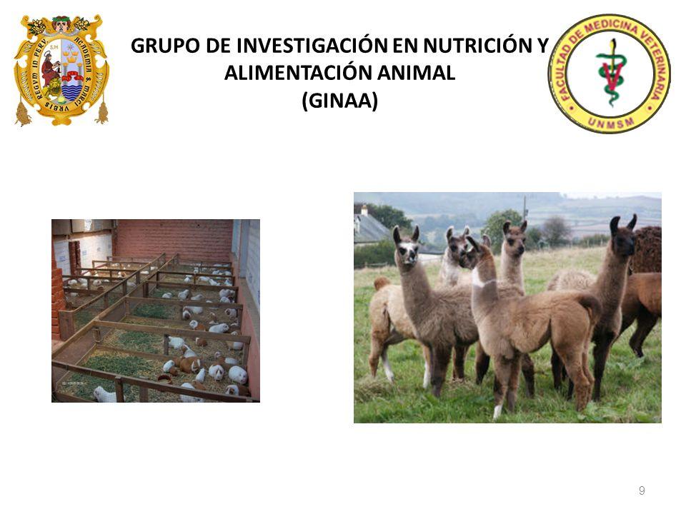 GRUPO DE INVESTIGACIÓN EN NUTRICIÓN Y ALIMENTACIÓN ANIMAL (GINAA) 9