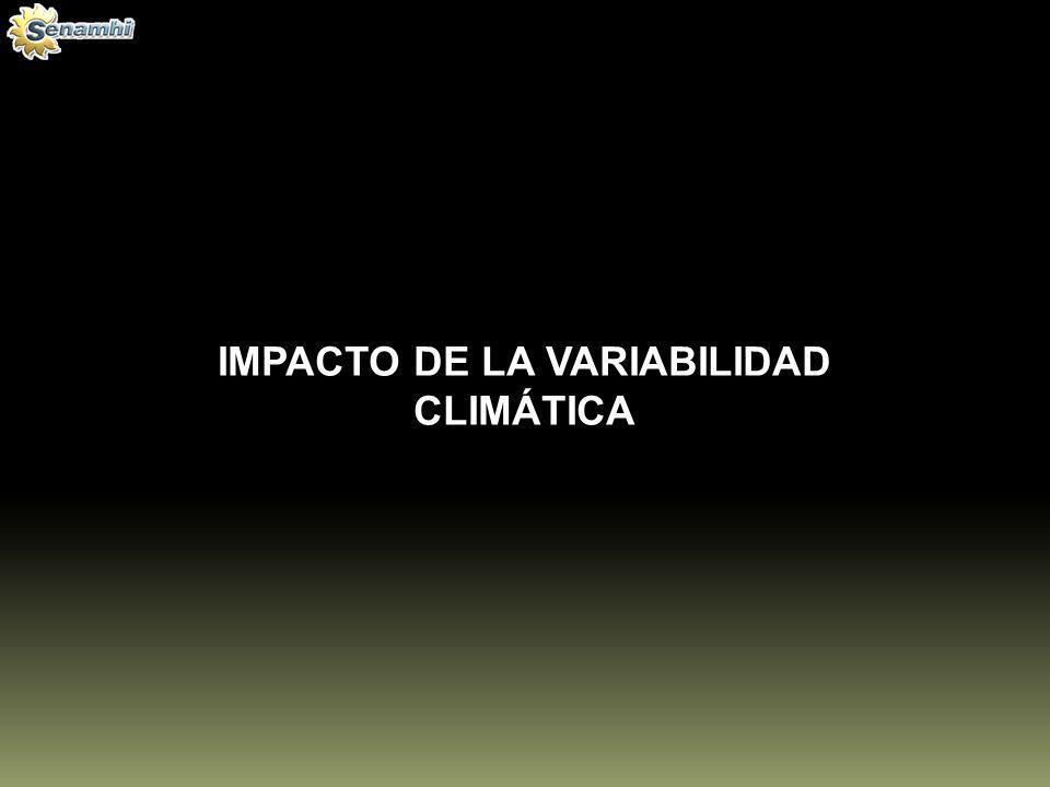 IMPACTO DE LA VARIABILIDAD CLIMÁTICA