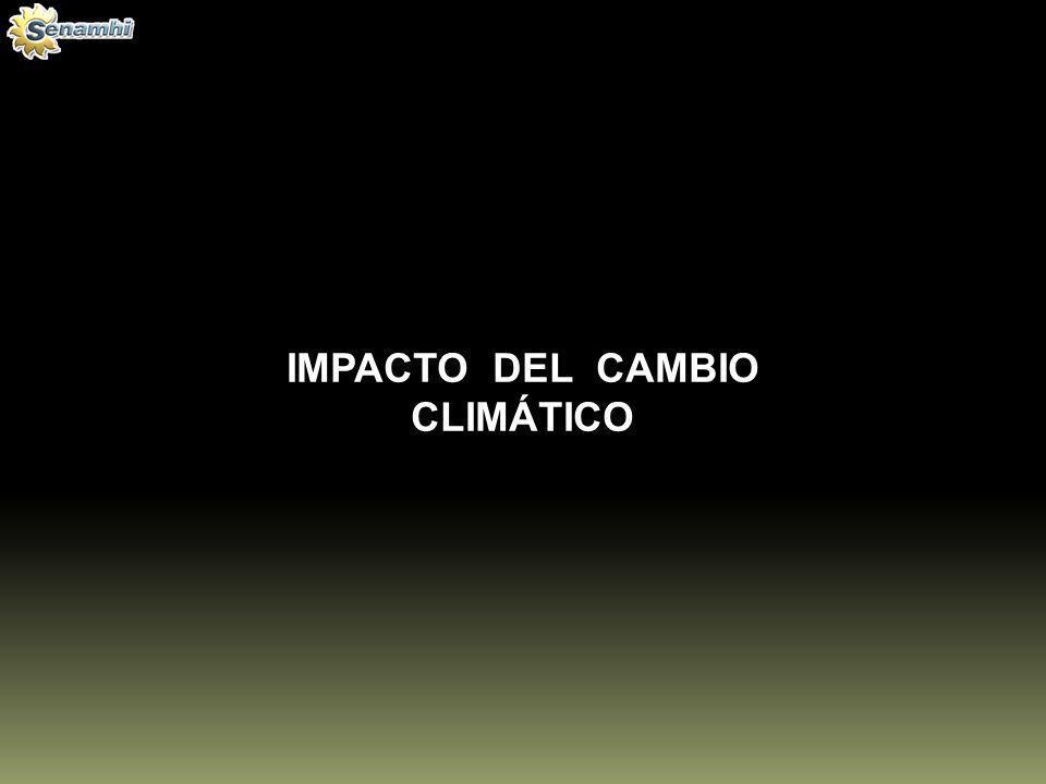 IMPACTO DEL CAMBIO CLIMÁTICO