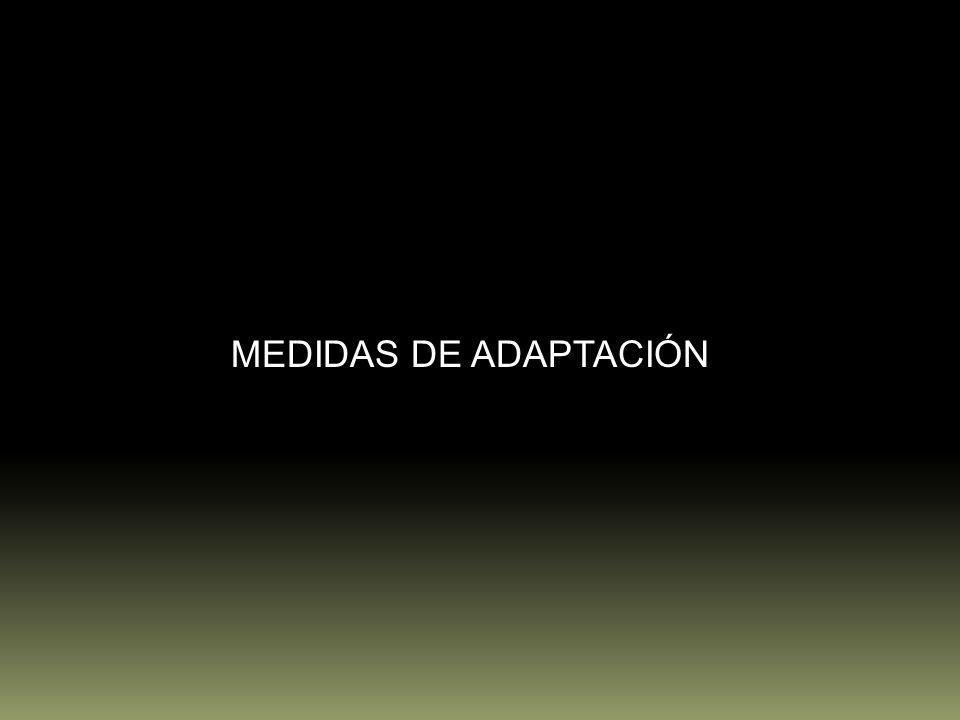 MEDIDAS DE ADAPTACIÓN