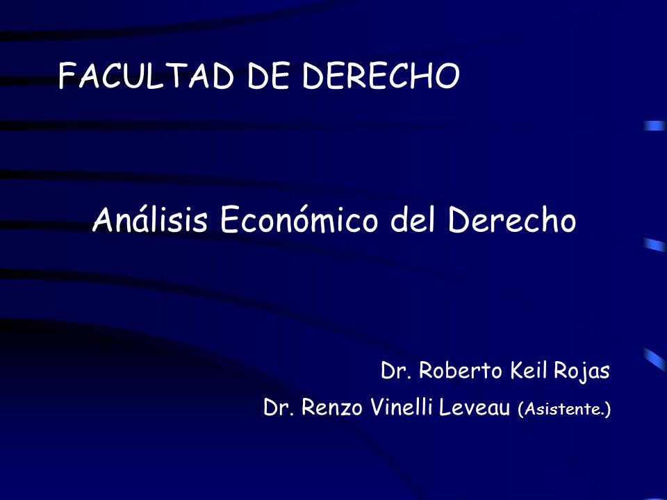 FACULTAD DE DERECHO Análisis Económico del Derecho Dr. Roberto Keil Rojas Dr. Renzo Vinelli Leveau (Asistente.)