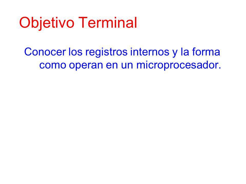 Objetivo Instruccional Conocer y comprender las instrucciones de control, así como su respectiva codificación.