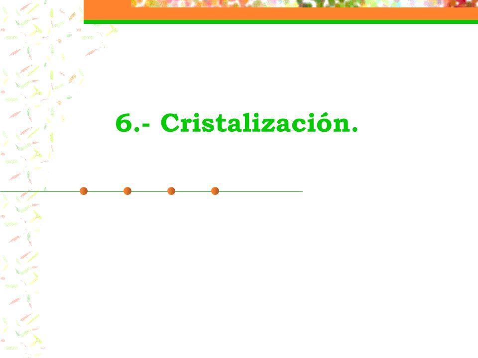 6.- Cristalización.