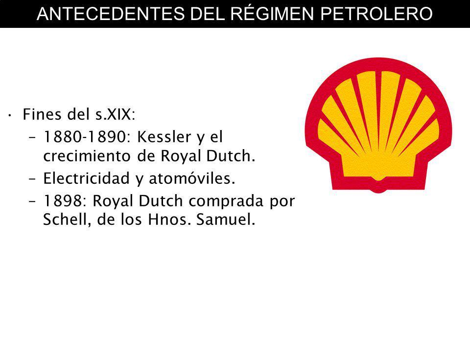 Inicios del s.XX –1908: Anglo-Persian Oil Company ( D Arcy ) –Roosevelt contra Standard Oil Company.