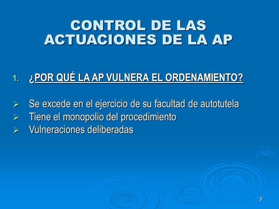 18 LOS ACTOS ADMINISTRATIVOS 1.