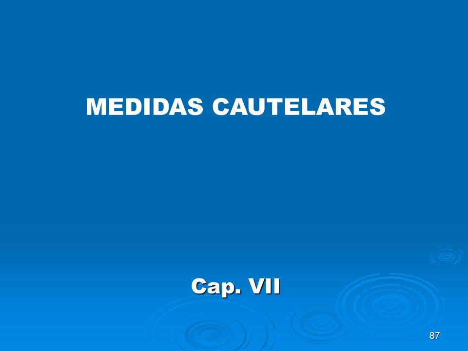 87 MEDIDAS CAUTELARES Cap. VII
