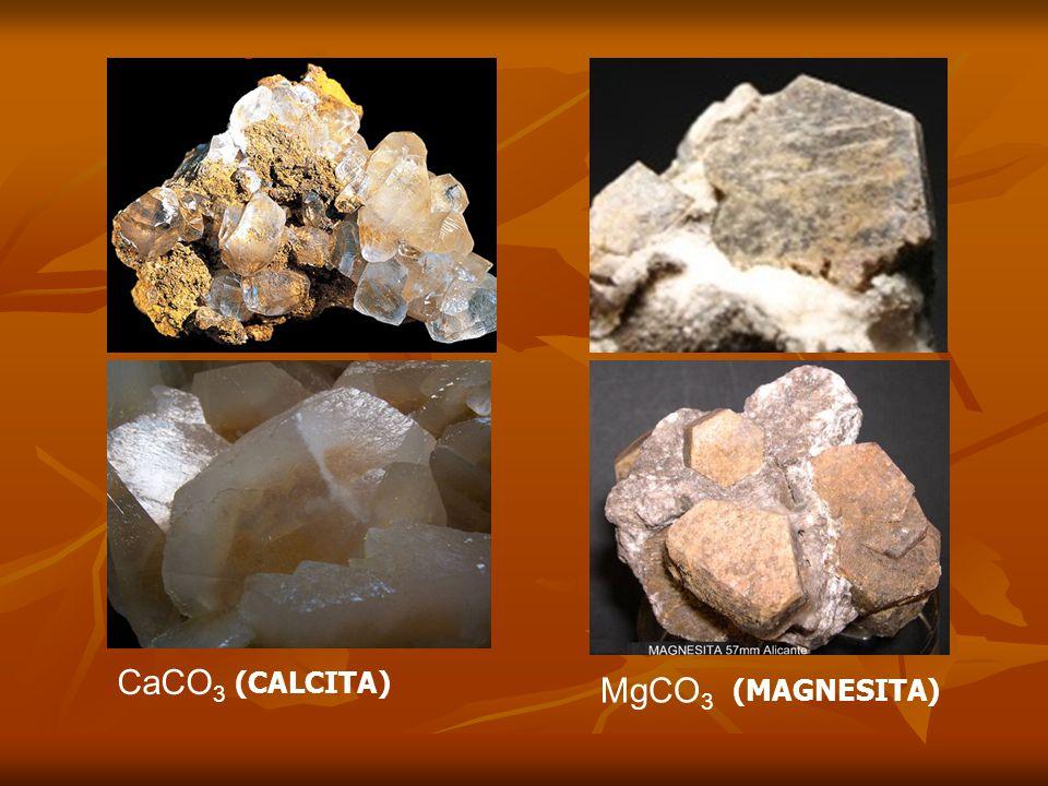 (CALCITA) CaCO 3 (MAGNESITA) MgCO 3