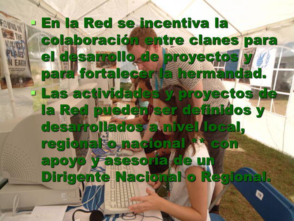 En la Red se incentiva la colaboración entre clanes para el desarrollo de proyectos y para fortalecer la hermandad.