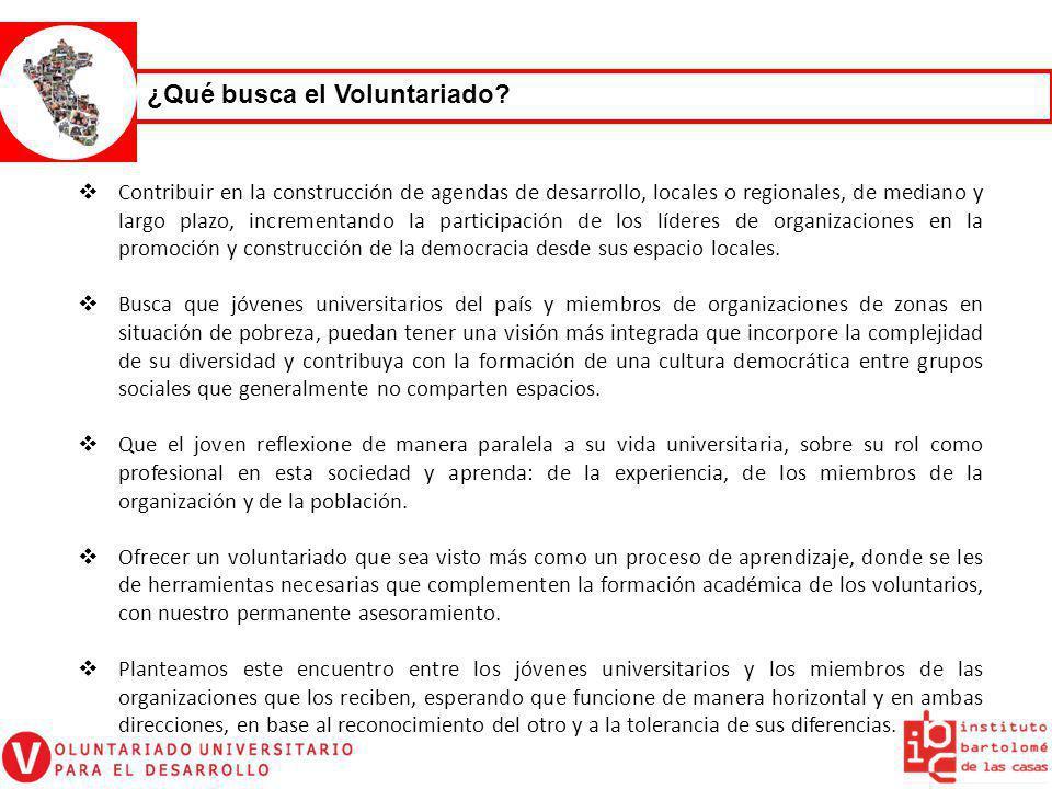 VOLUNTARIADO 2011 UNIVERSITARIO Periodo Nacional