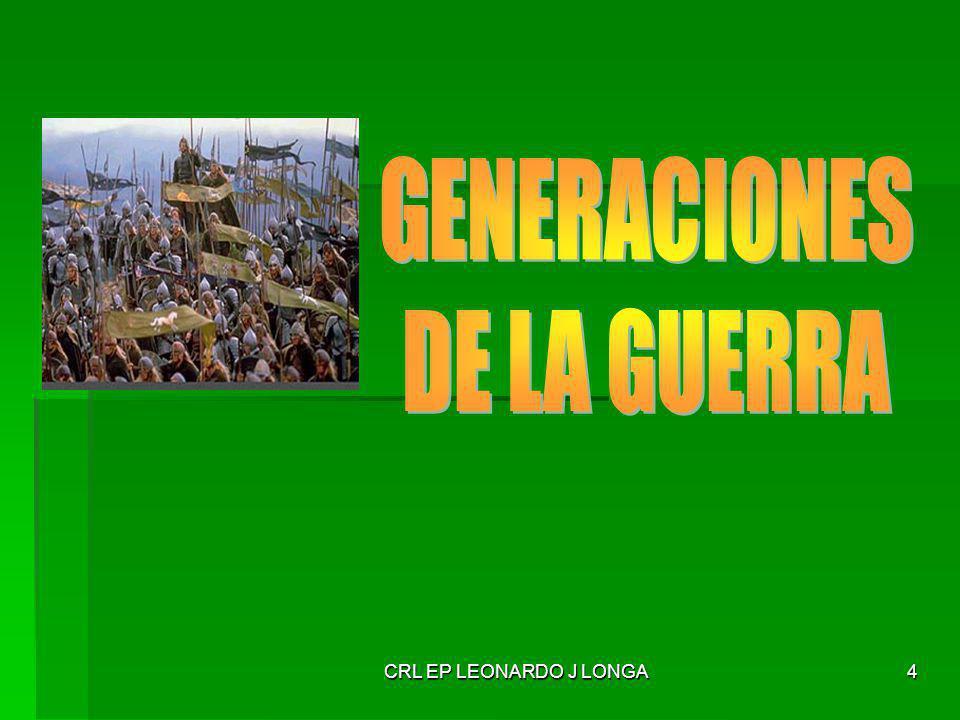 CRL EP LEONARDO J LONGA15 TIPOS DE OPERACIONES EMERGENTES Opns de Paz.
