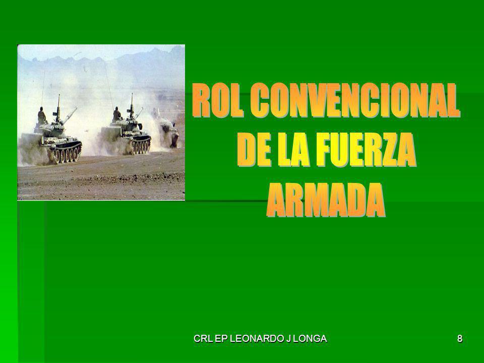 CRL EP LEONARDO J LONGA39 Conflicto armado a gran escala, donde la relación entre las partes implica una considerable diferencia de los poderes militares enfrentados.