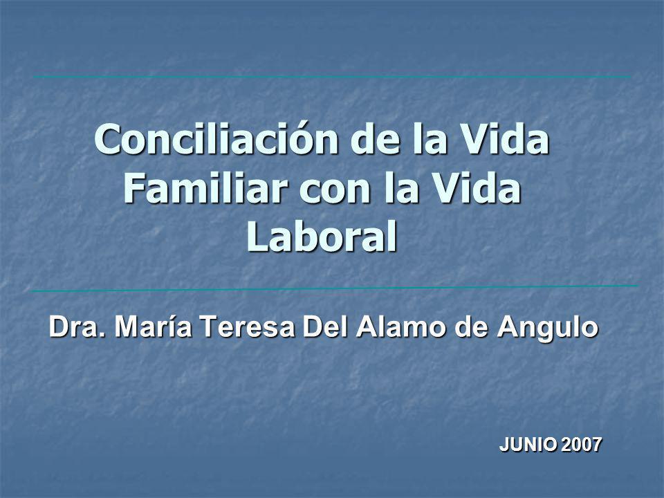 Conciliación de la Vida Familiar con la Vida Laboral Dra.