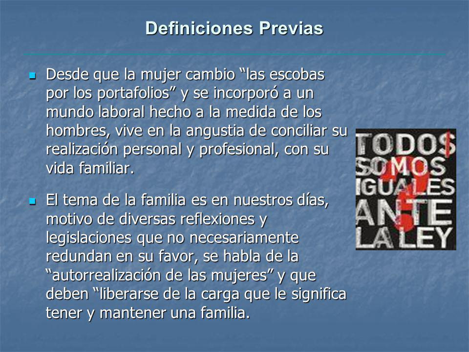 Definiciones Previas El ser humano es, esencialmente un ser social, necesita de una familia, y es por ello que la Declaración Universal de Derechos Humanos reconoce a la familia como el elemento natural y fundamental de la sociedad.