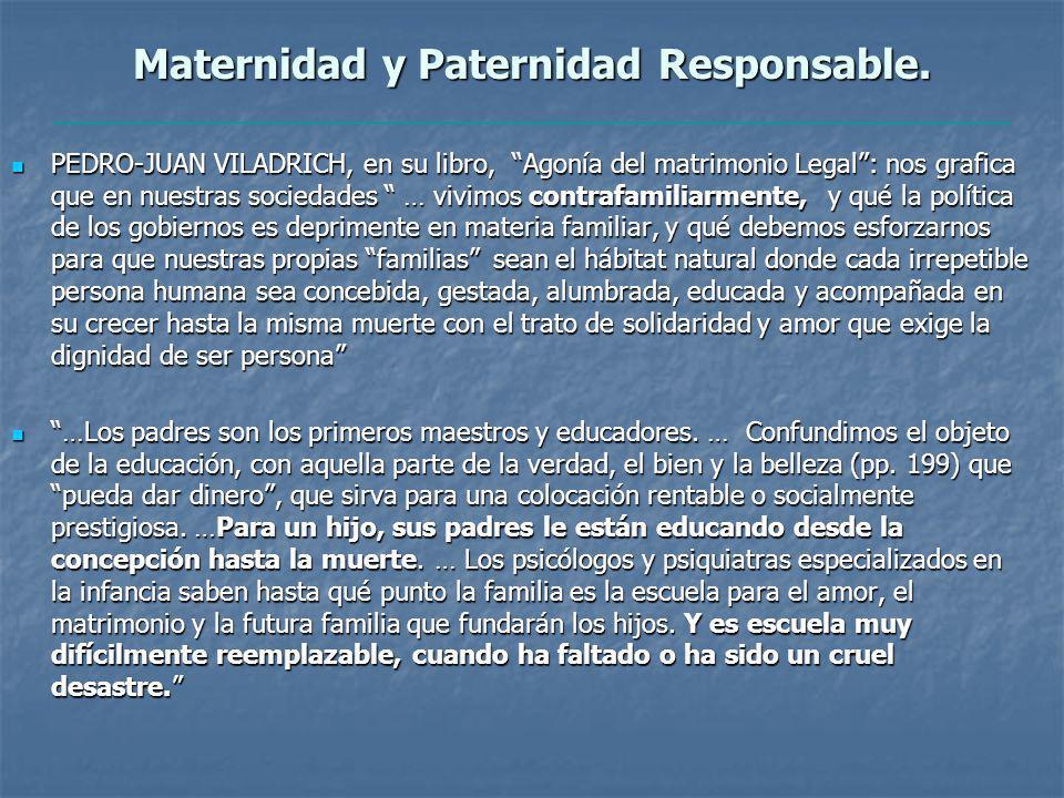 Maternidad y Paternidad Responsable.