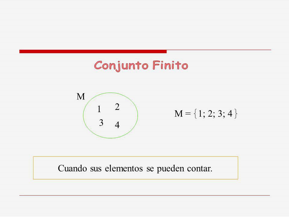 N Cuando sus elementos no se pueden contar. N = 1; 2; 3; 4 … 1 3 4… 2
