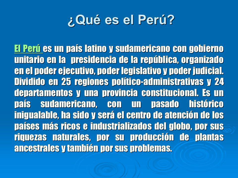 ¿Qué es el Perú.