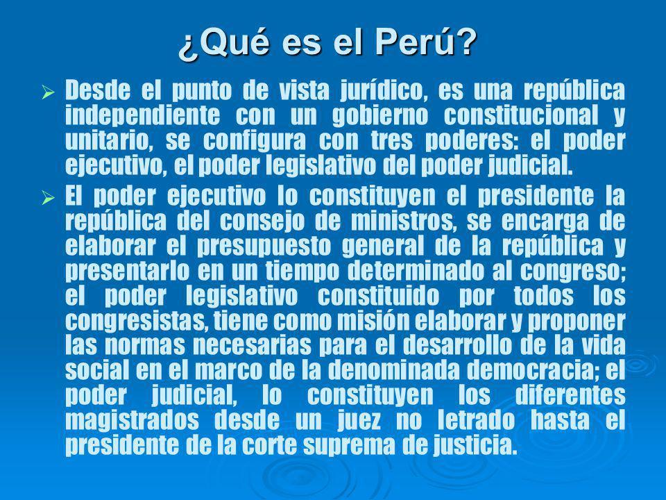 Desde el punto de vista jurídico, es una república independiente con un gobierno constitucional y unitario, se configura con tres poderes: el poder ejecutivo, el poder legislativo del poder judicial.