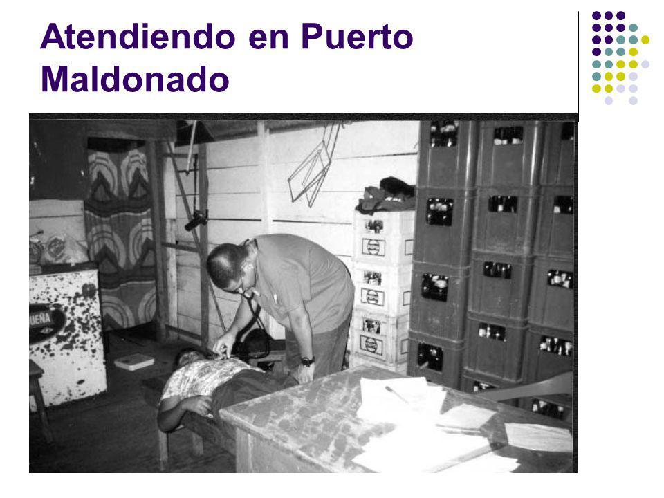 Atendiendo en Puerto Maldonado