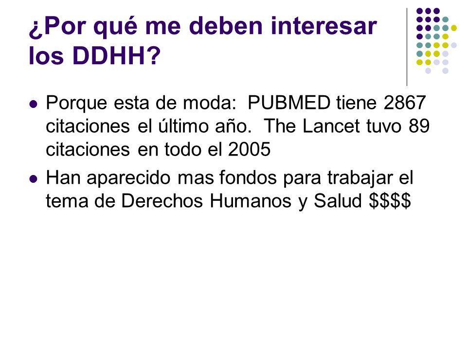 ¿Por qué me deben interesar los DDHH.