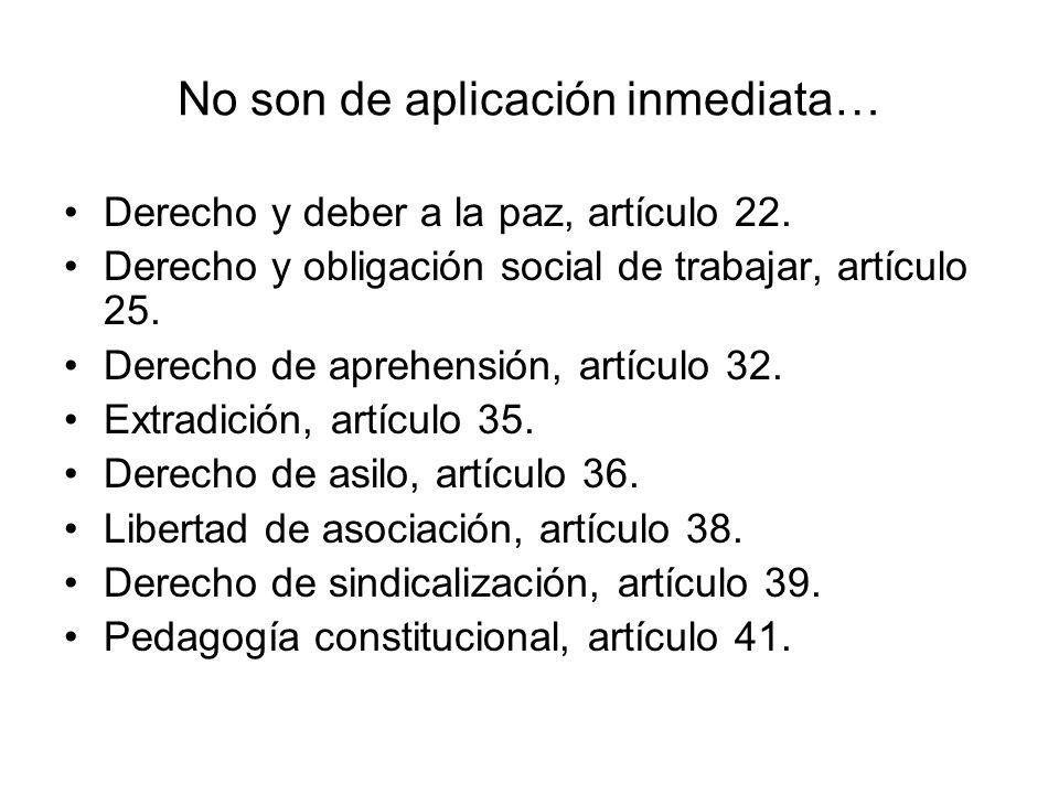 La protección directa e inmediata de sus derechos fundamentales… n. Derecho al libre ejercicio de profesiones, artículo 26. ñ. Libertad de enseñanza,