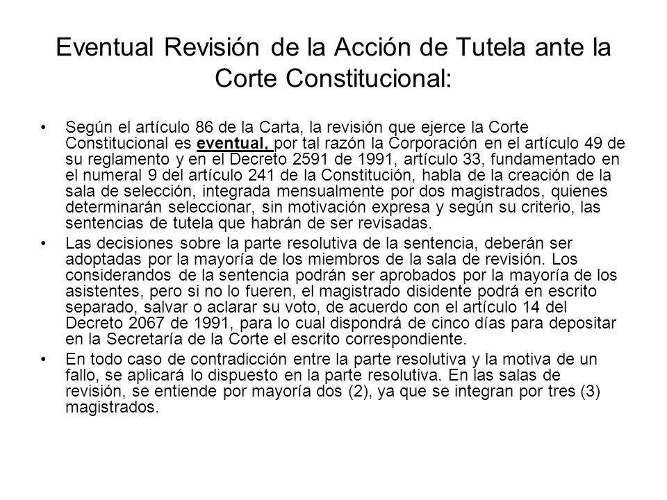 Impugnación del Fallo en la Acción de Tutela: El trámite de la impugnación según el artículo 31 del Decreto 2591 de 1991, ordena al juez remitir el ex