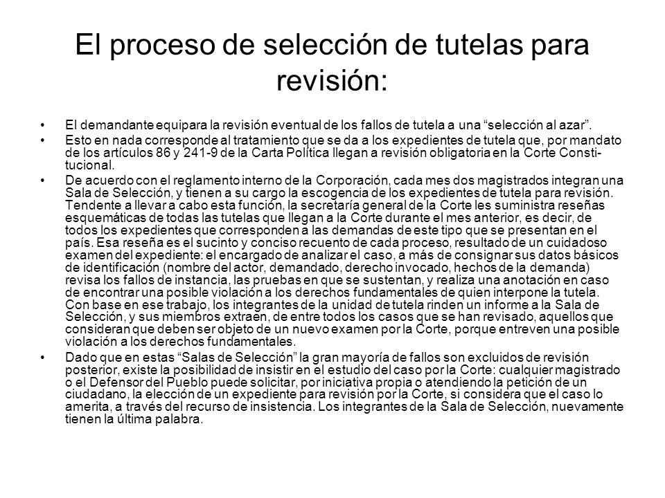 Eventual Revisión de la Acción de Tutela ante la Corte Constitucional: Según el artículo 86 de la Carta, la revisión que ejerce la Corte Constituciona