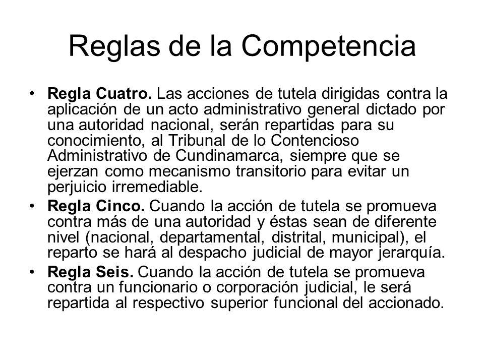 Reglas de la Competencia Regla Cuatro.