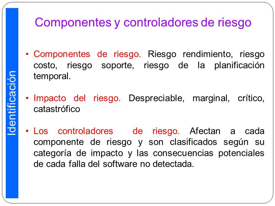 Componentes y controladores de riesgo Componentes de riesgo.