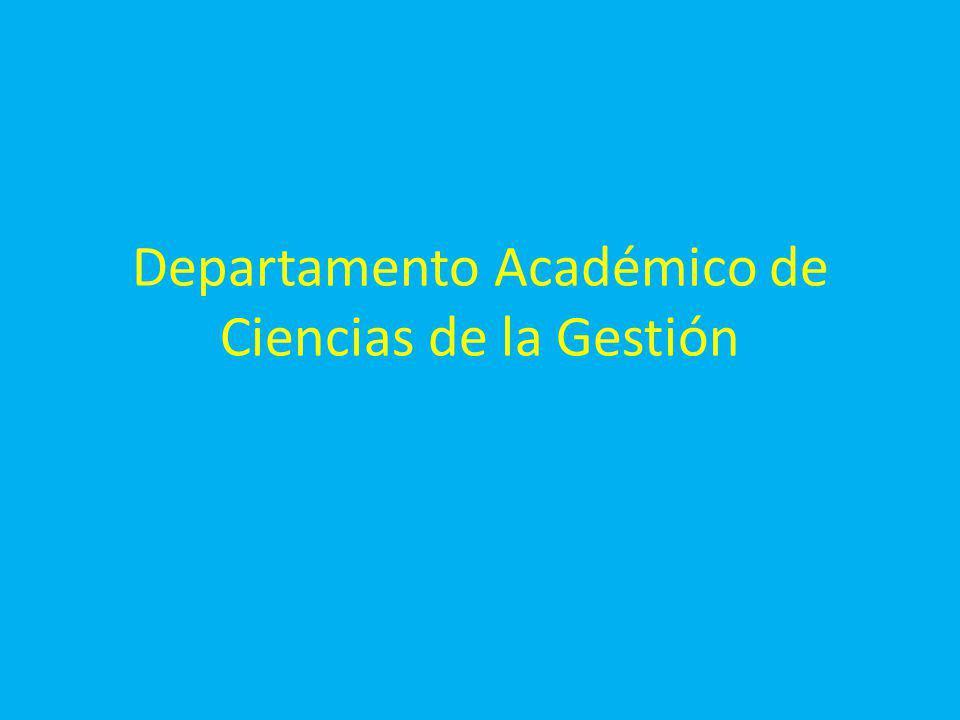 Departamento Académico de Ciencias de la Gestión