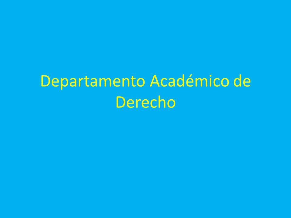 Departamento Académico de Derecho