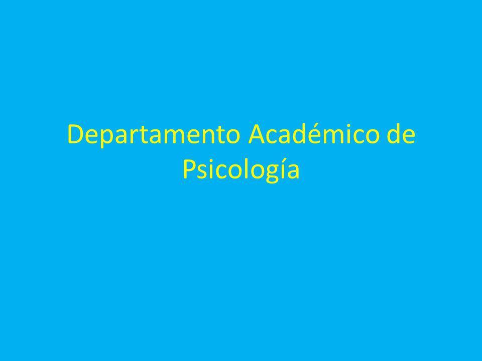 Departamento Académico de Psicología