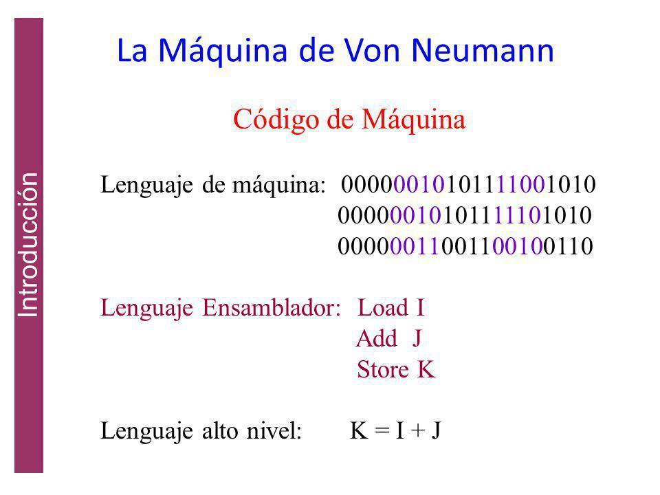 La Máquina de Von Neumann Introducción Los enteros eran la única forma de datos Podía sumar, restar, multiplicar, dividir y tomar el valor absoluto de