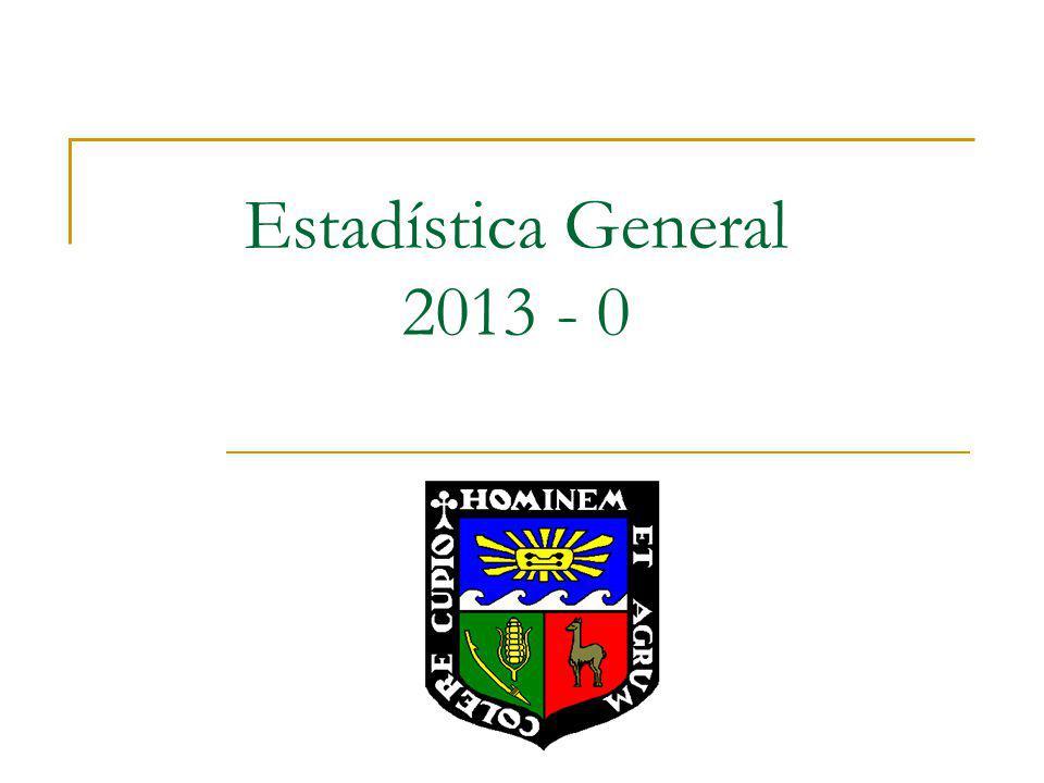 Estadística General 2013 - 0