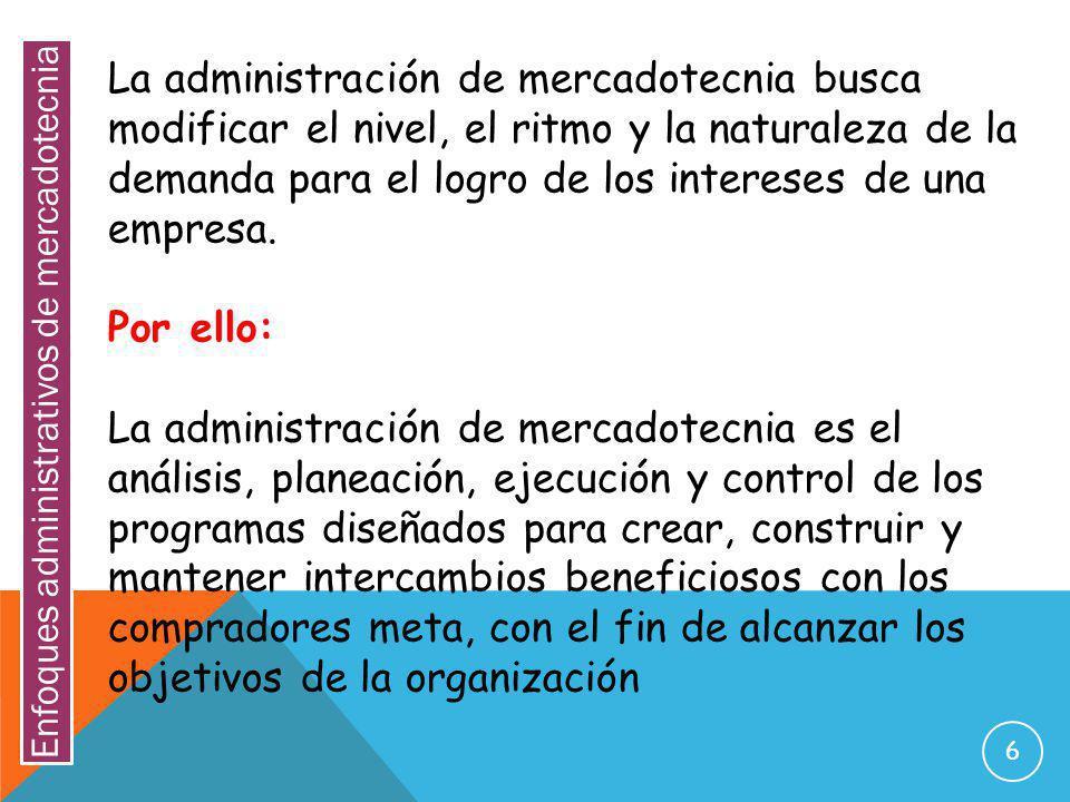 17 FUNCION: CONTROL DE MERCADOTECNIA.