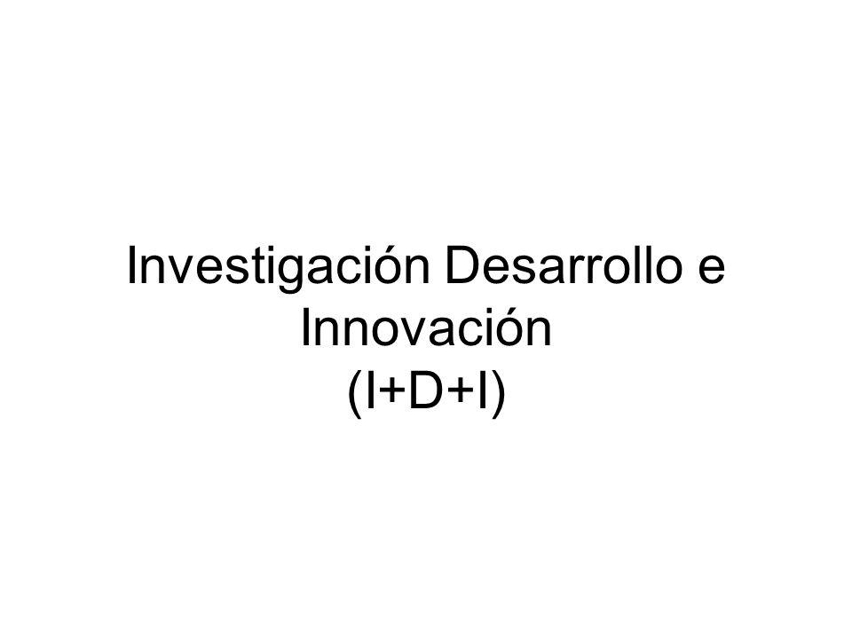 Investigación Desarrollo e Innovación (I+D+I)