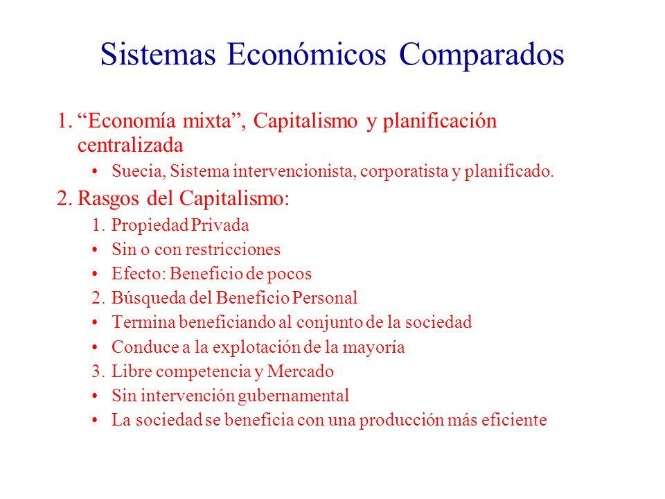 Problemas de la Economía Global 1.Productividad: Es una dimensión de la eficiencia económica de un país Indicadores: PBI PBI per cápita 1980: Media del PBI per cápita: $13,500 URSS, $5,000.