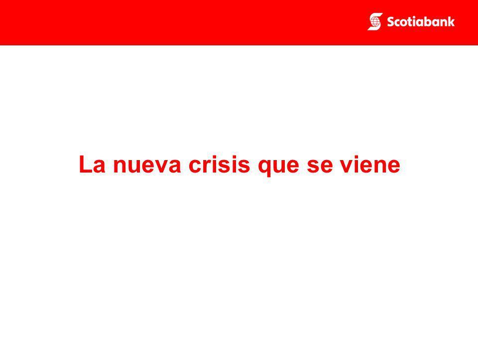 La nueva crisis que se viene