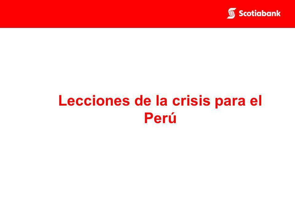 Lecciones de la crisis para el Perú
