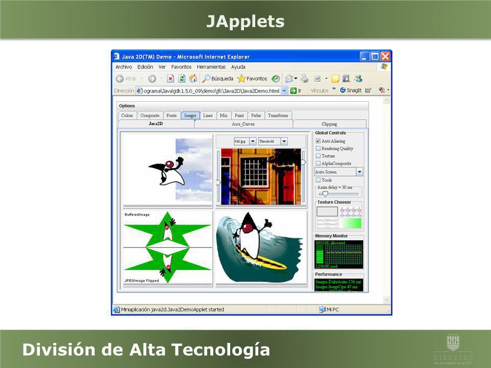 División de Alta Tecnología Ejercicio N° 11 Usando JFrame y layouts desarrolle la siguiente aplicación