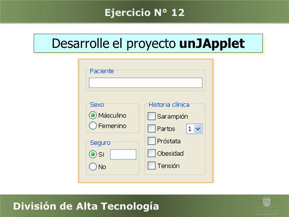 División de Alta Tecnología JApplets